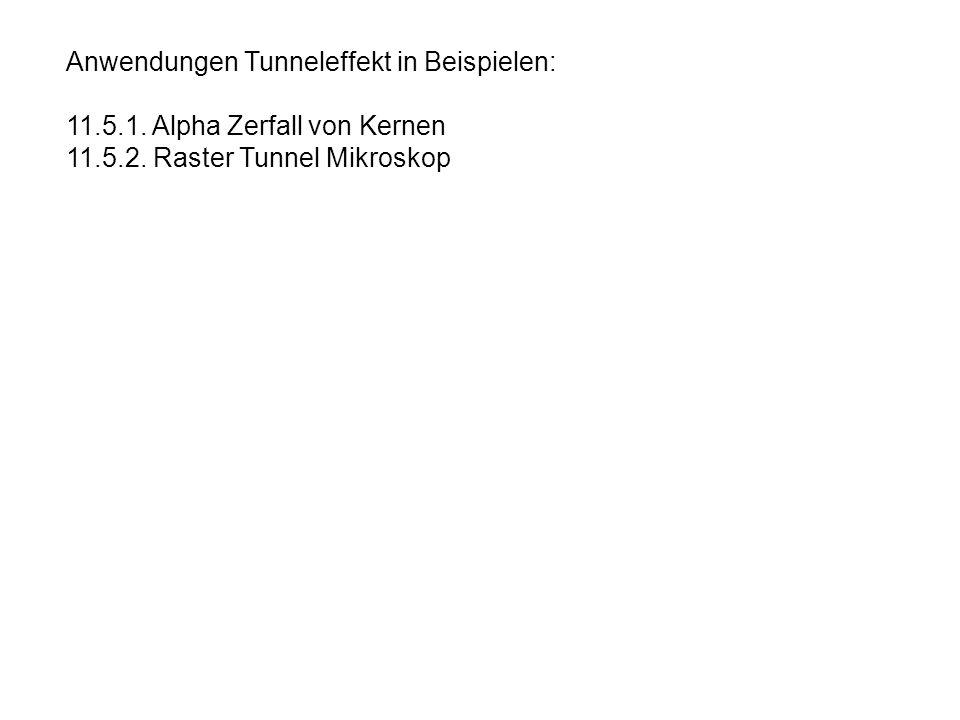 Anwendungen Tunneleffekt in Beispielen: