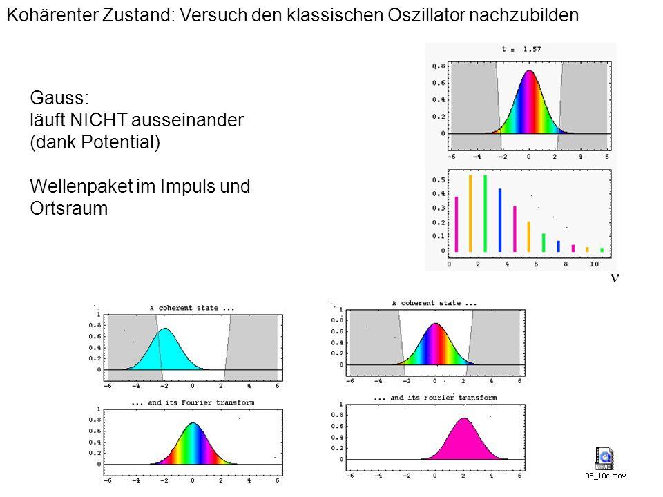 Kohärenter Zustand: Versuch den klassischen Oszillator nachzubilden