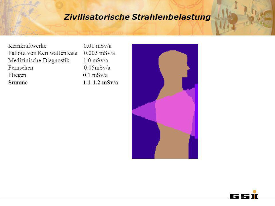 Zivilisatorische Strahlenbelastung