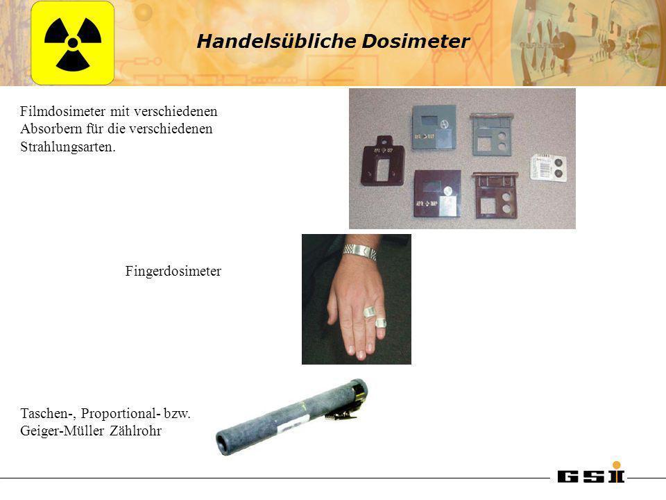 Handelsübliche Dosimeter