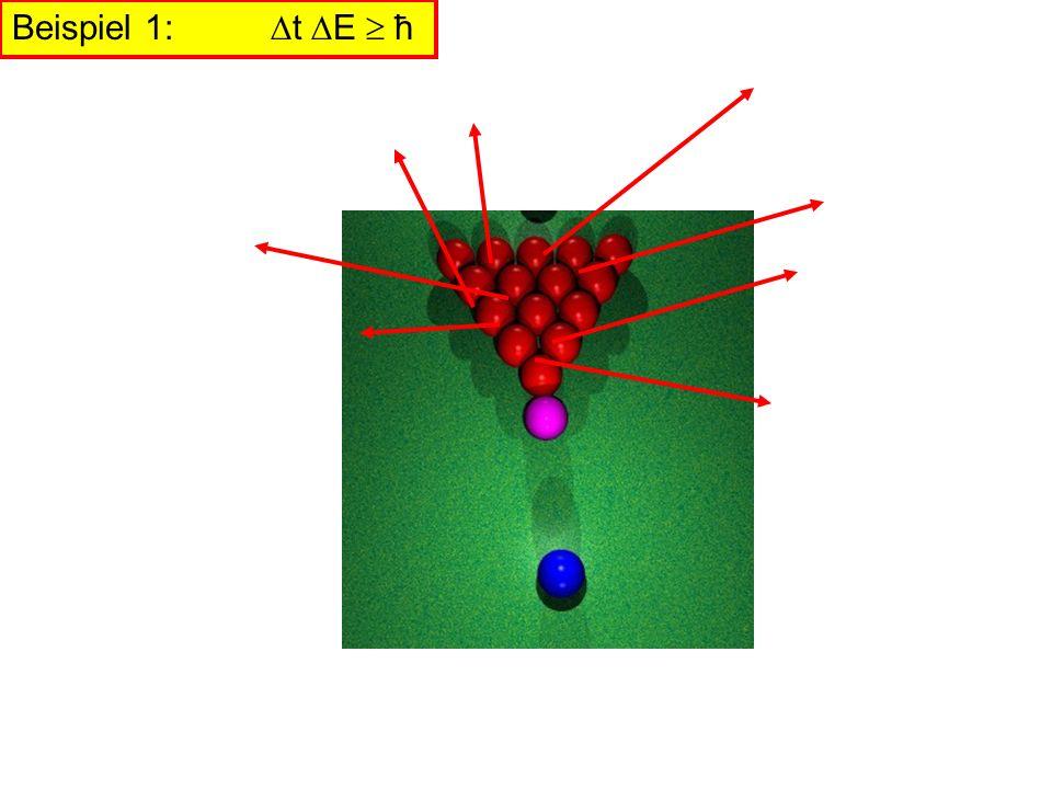 Beispiel 1: t E  ħ