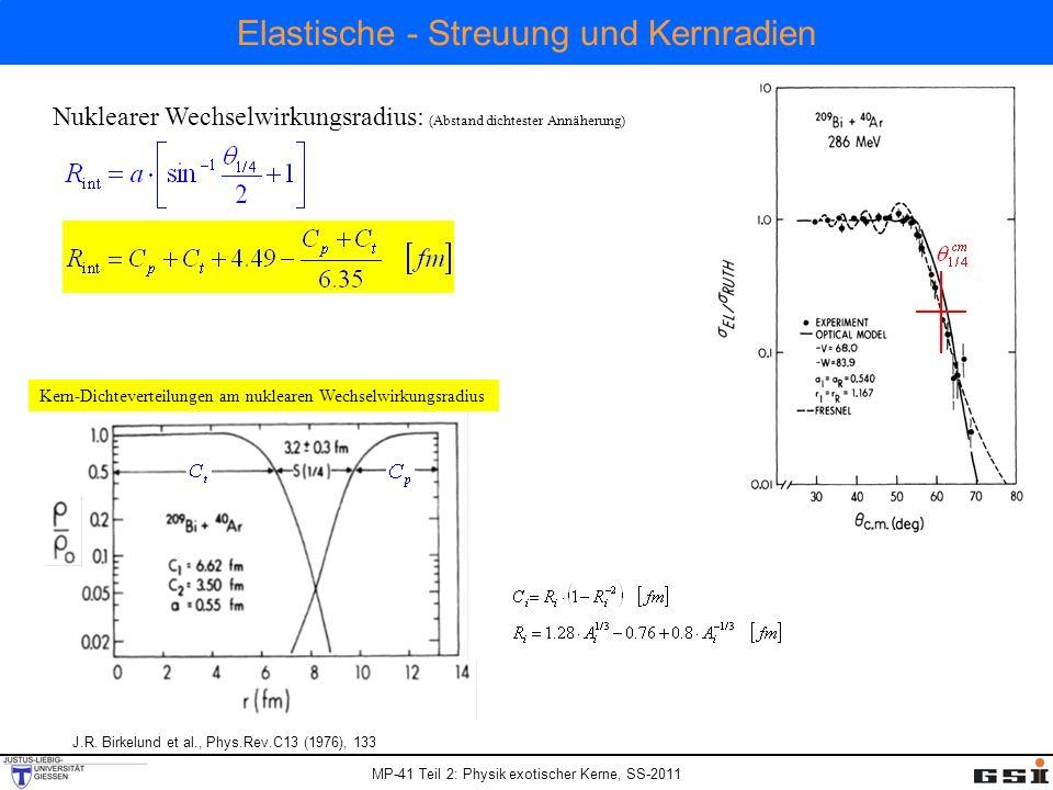 Elastische - Streuung und Kernradien