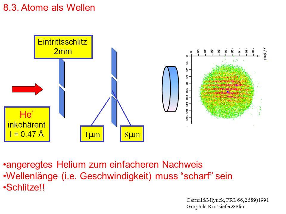 angeregtes Helium zum einfacheren Nachweis