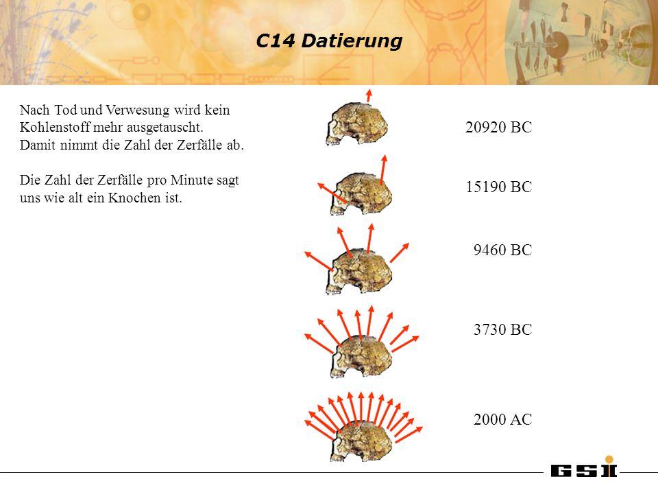 C14 Datierung 20920 BC 15190 BC 9460 BC 3730 BC 2000 AC