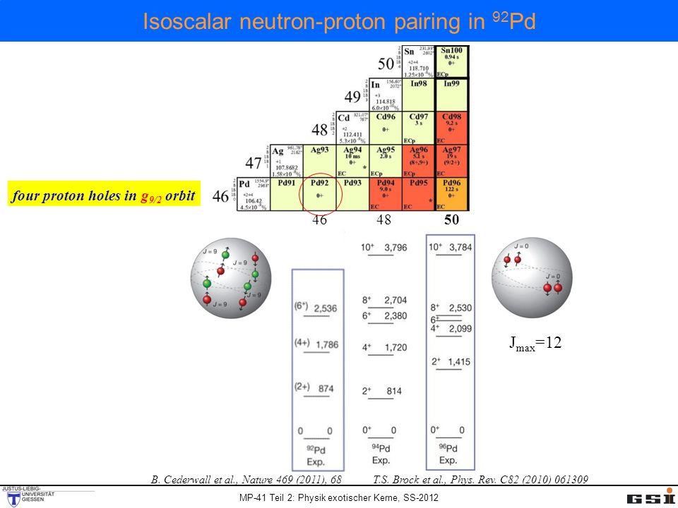 Isoscalar neutron-proton pairing in 92Pd