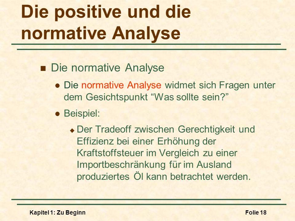 Die positive und die normative Analyse