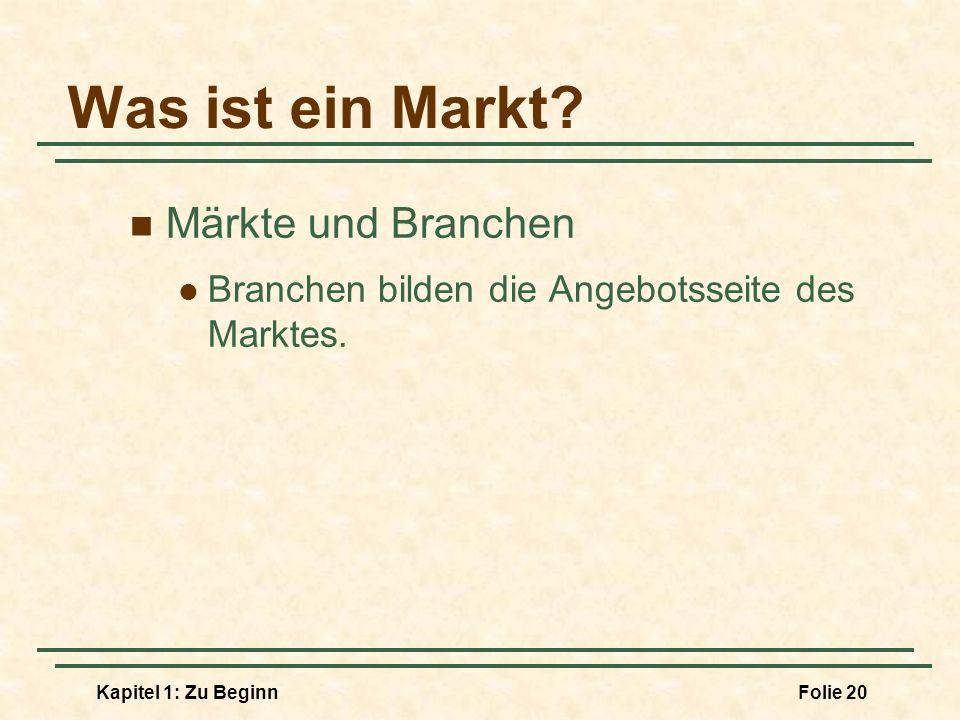 Was ist ein Markt Märkte und Branchen