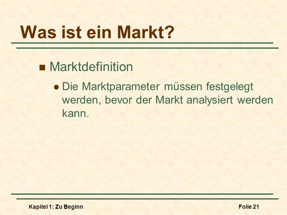 Was ist ein Markt Marktdefinition