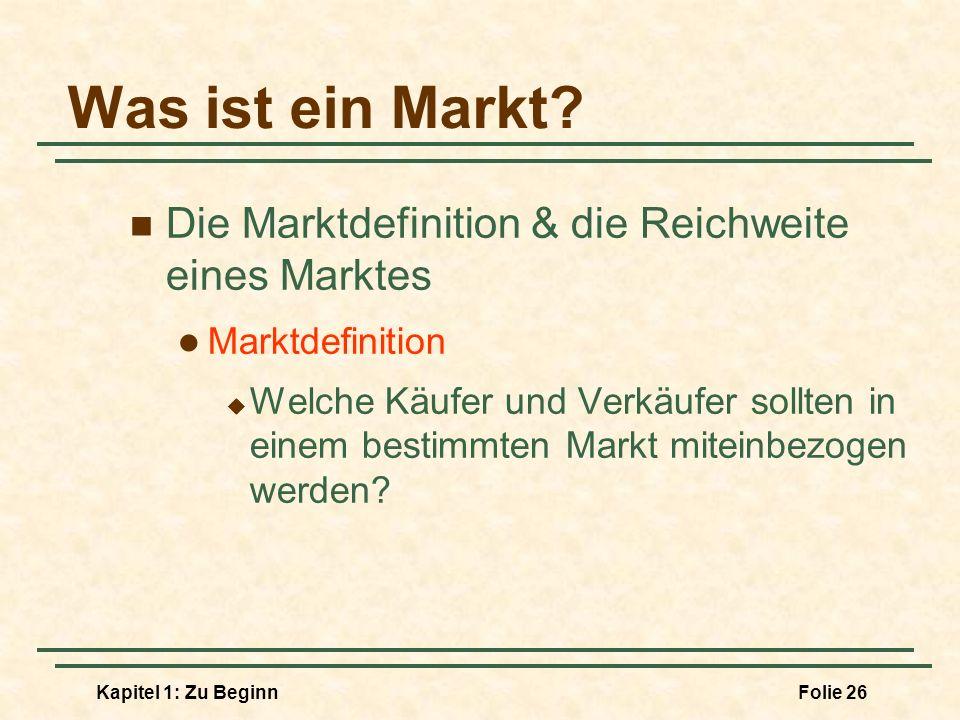 Was ist ein Markt Die Marktdefinition & die Reichweite eines Marktes