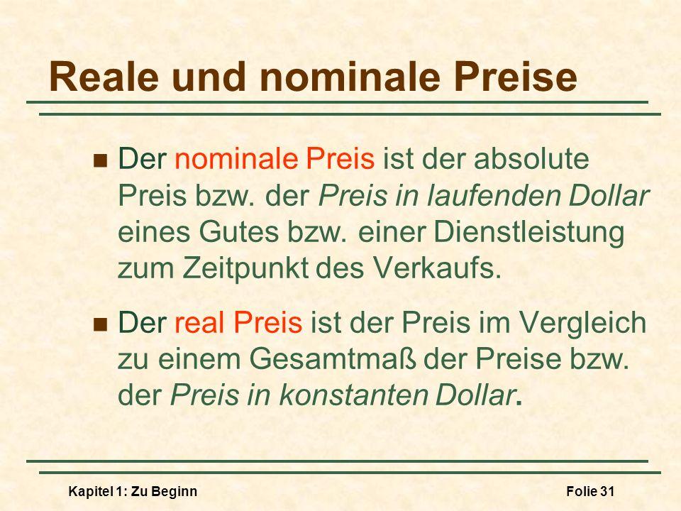 Reale und nominale Preise