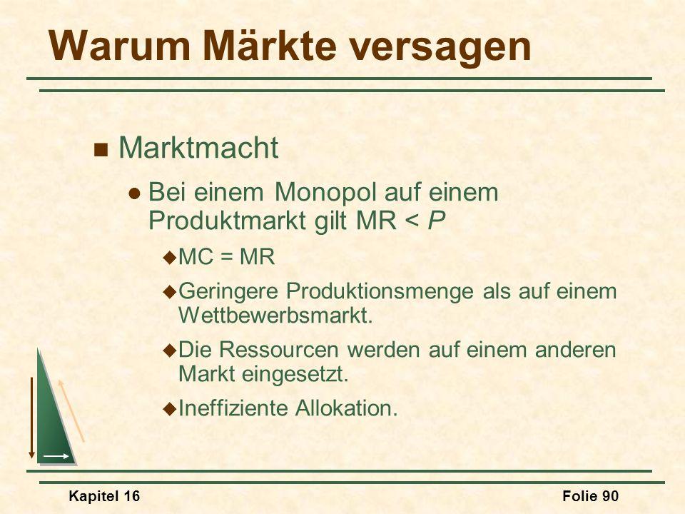 Warum Märkte versagen Marktmacht