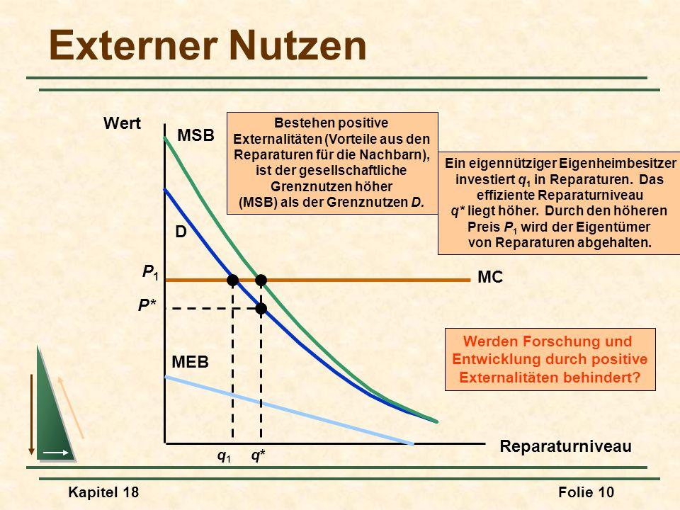 Externer Nutzen Wert MSB D P1 MC P* MEB Reparaturniveau q* q1