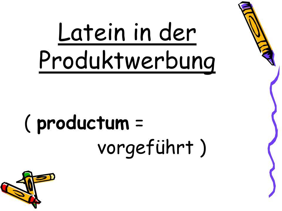 Latein in der Produktwerbung