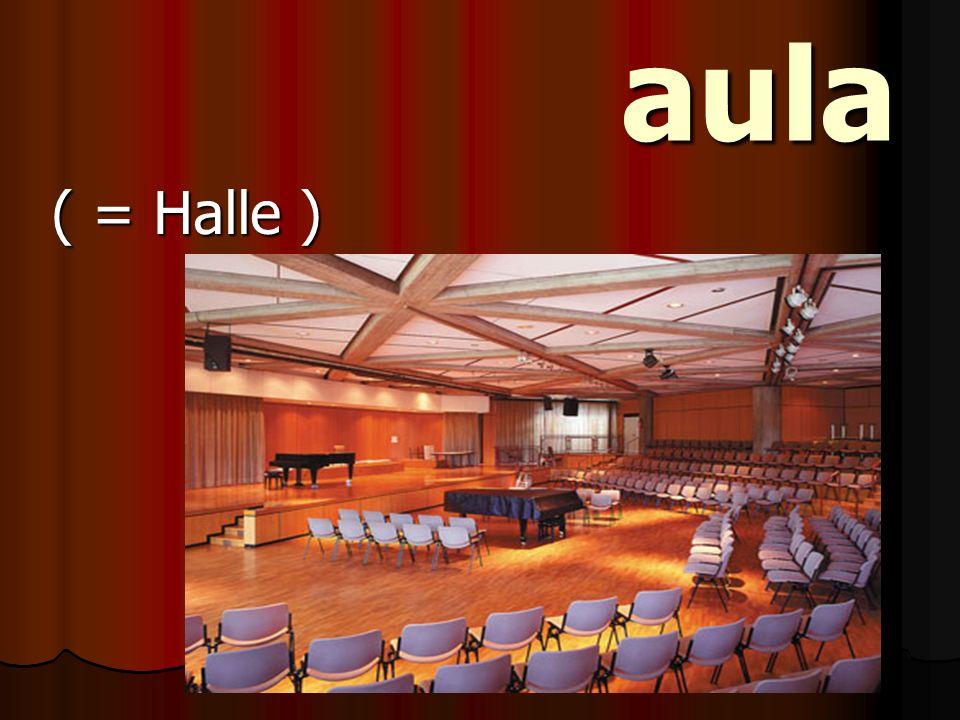 aula ( = Halle )