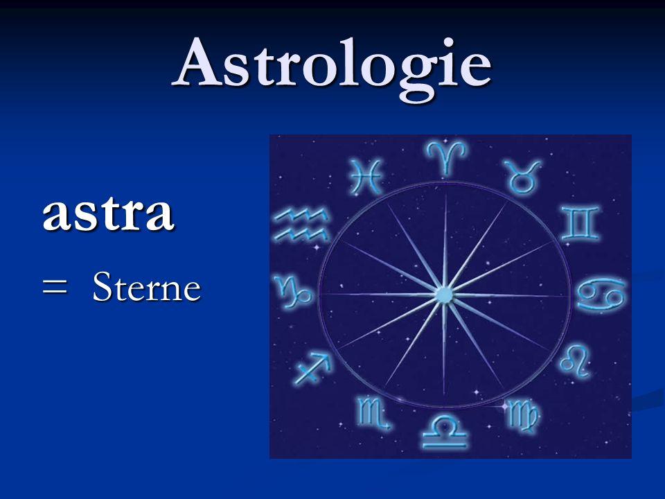 Astrologie astra = Sterne