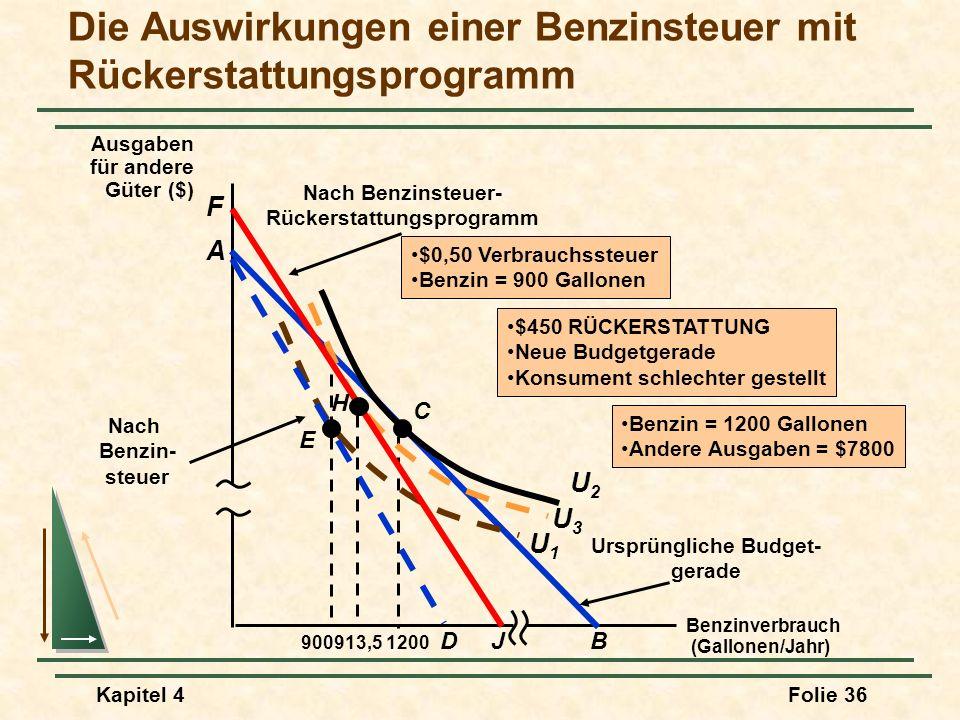 Die Auswirkungen einer Benzinsteuer mit Rückerstattungsprogramm