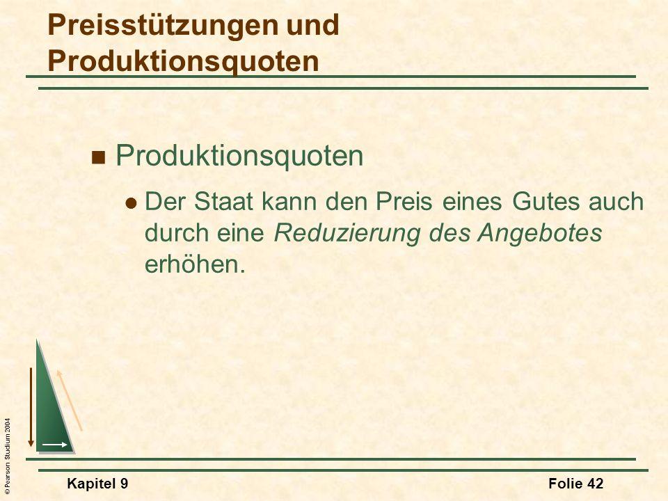Preisstützungen und Produktionsquoten
