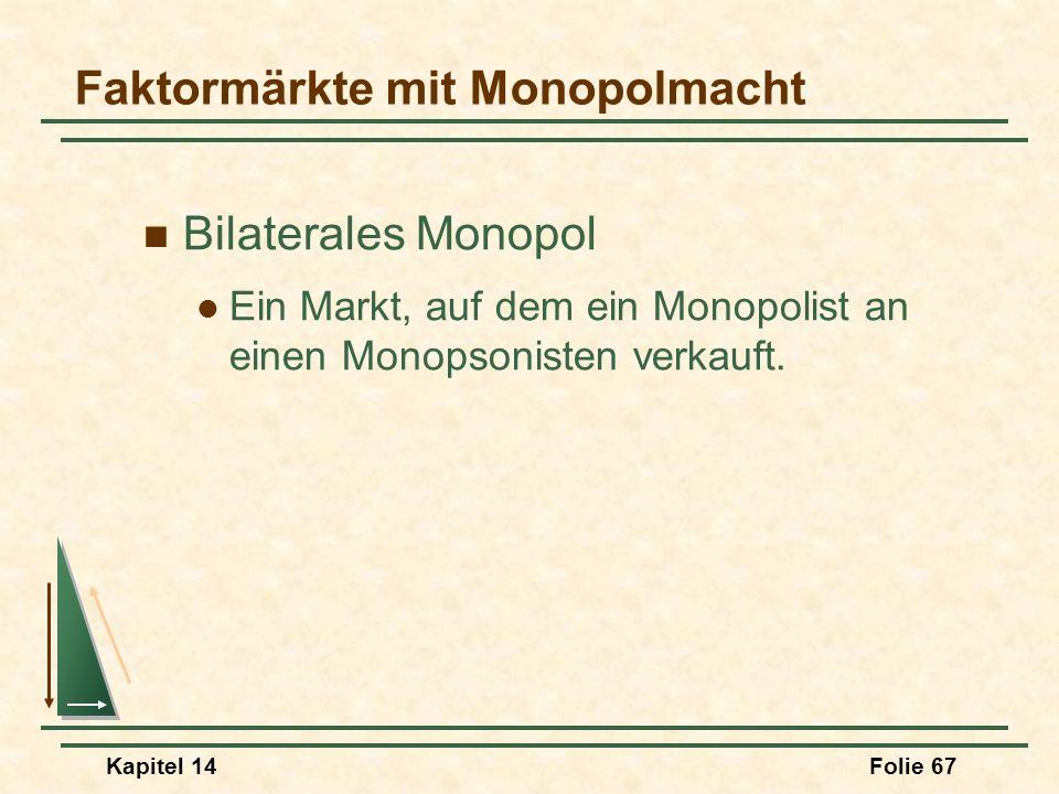 Faktormärkte mit Monopolmacht