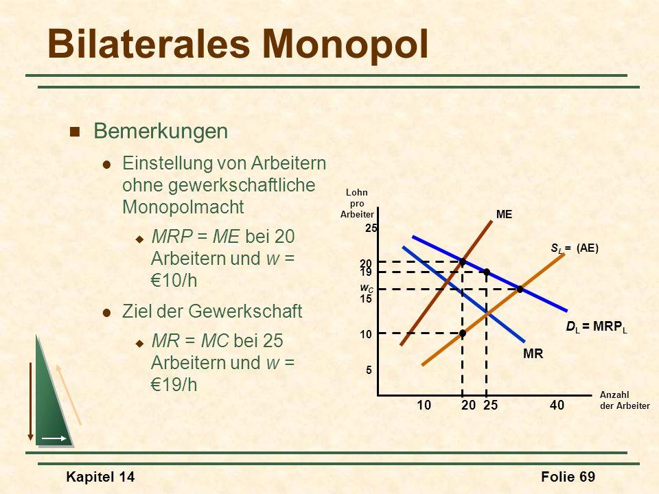 Bilaterales Monopol Bemerkungen