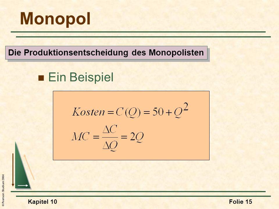 Die Produktionsentscheidung des Monopolisten