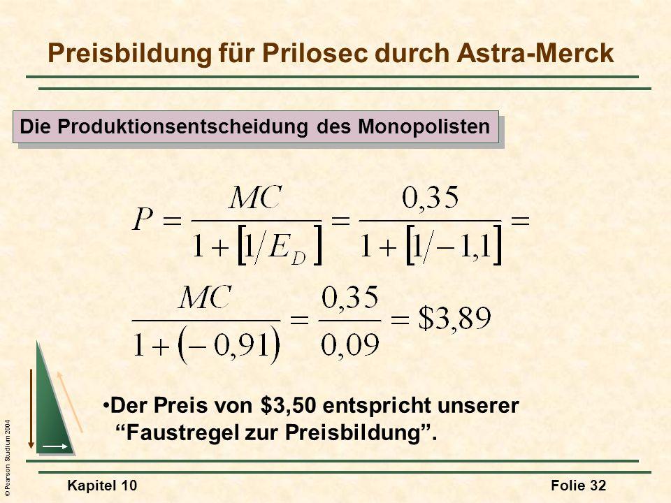 Preisbildung für Prilosec durch Astra-Merck