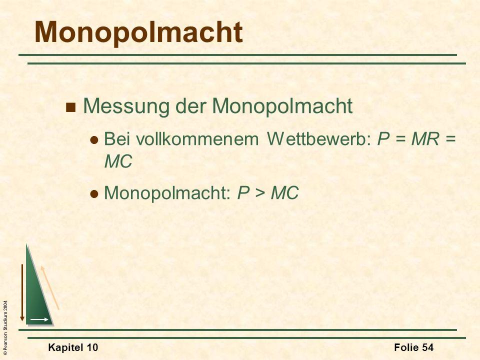 Monopolmacht Messung der Monopolmacht