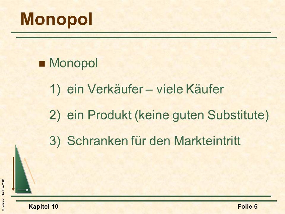 Monopol Monopol 1) ein Verkäufer – viele Käufer