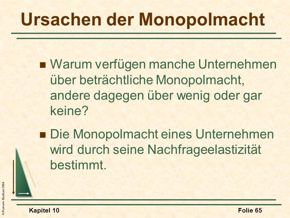 Ursachen der Monopolmacht