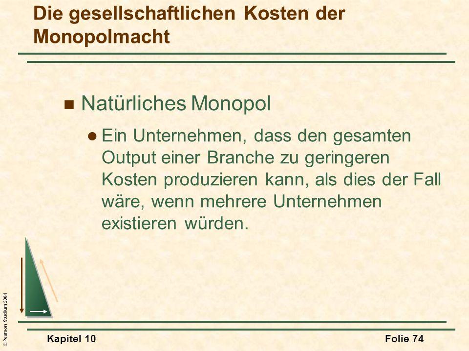 Die gesellschaftlichen Kosten der Monopolmacht