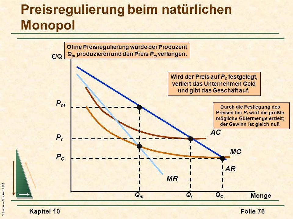 Preisregulierung beim natürlichen Monopol
