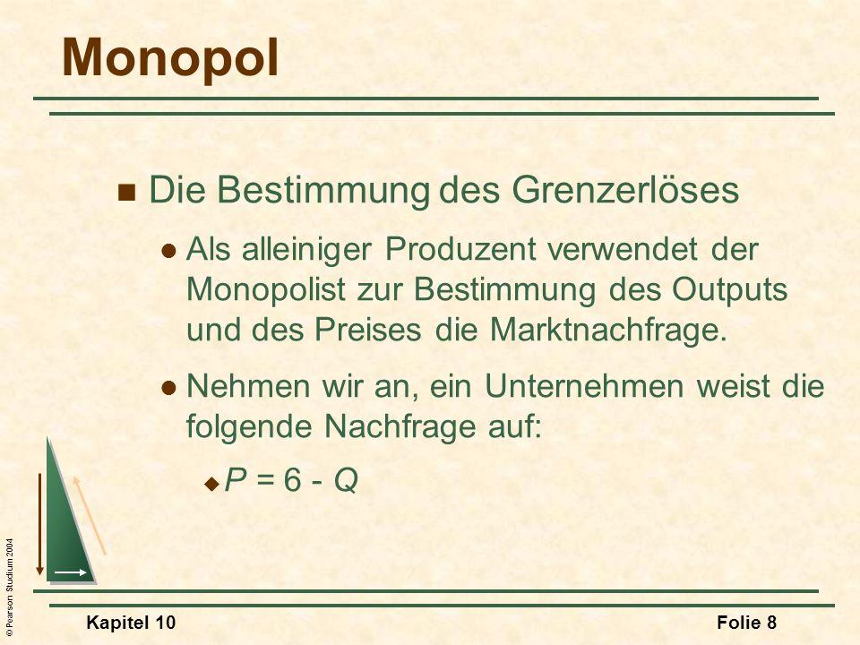 Monopol Die Bestimmung des Grenzerlöses