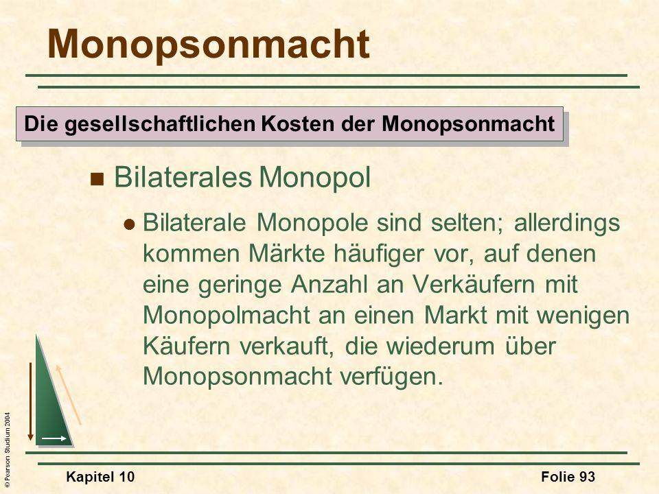 Die gesellschaftlichen Kosten der Monopsonmacht