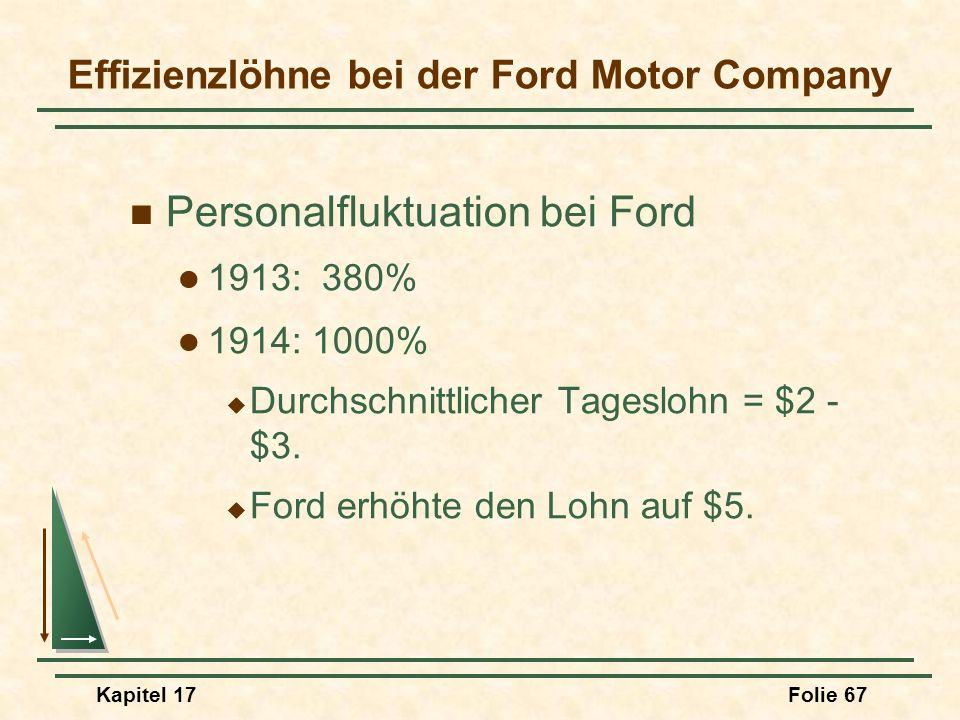 Effizienzlöhne bei der Ford Motor Company