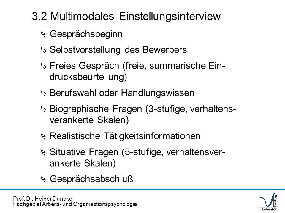 3.2 Multimodales Einstellungsinterview