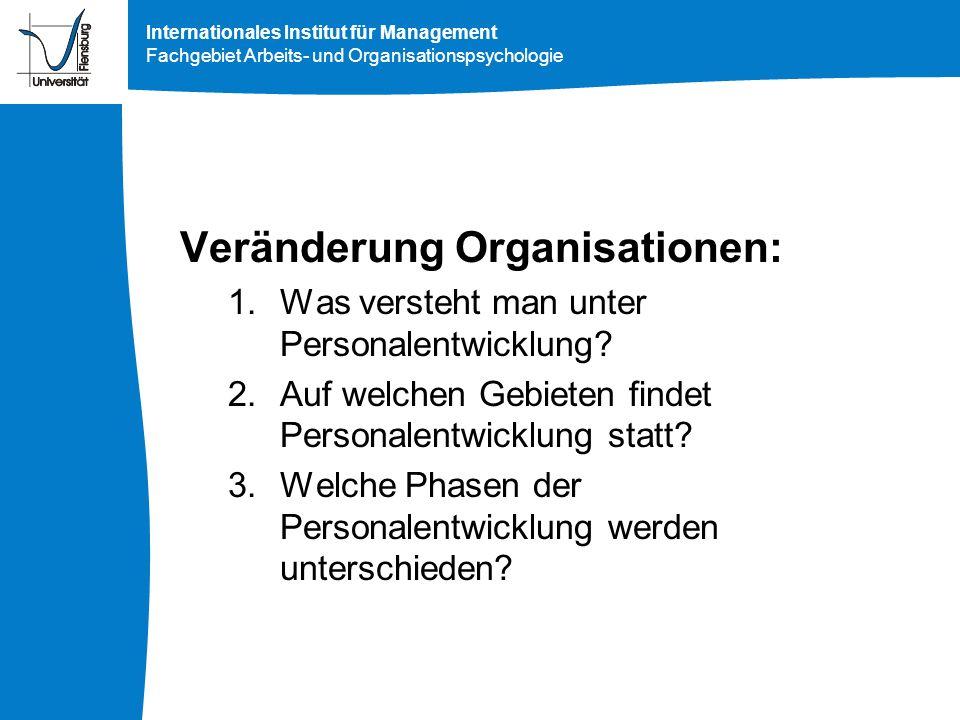 Veränderung Organisationen: