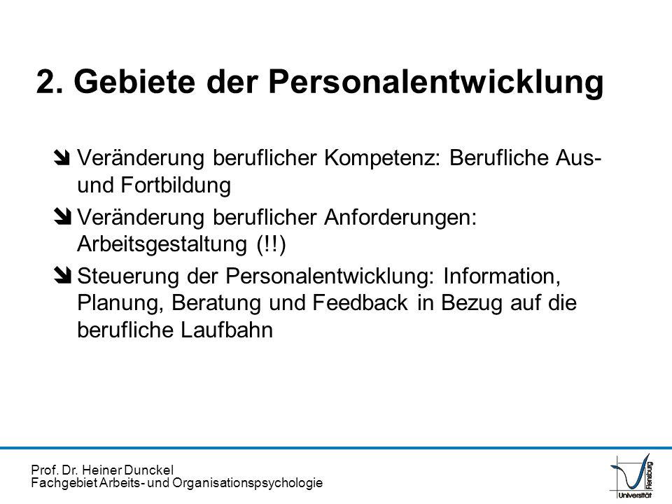 2. Gebiete der Personalentwicklung