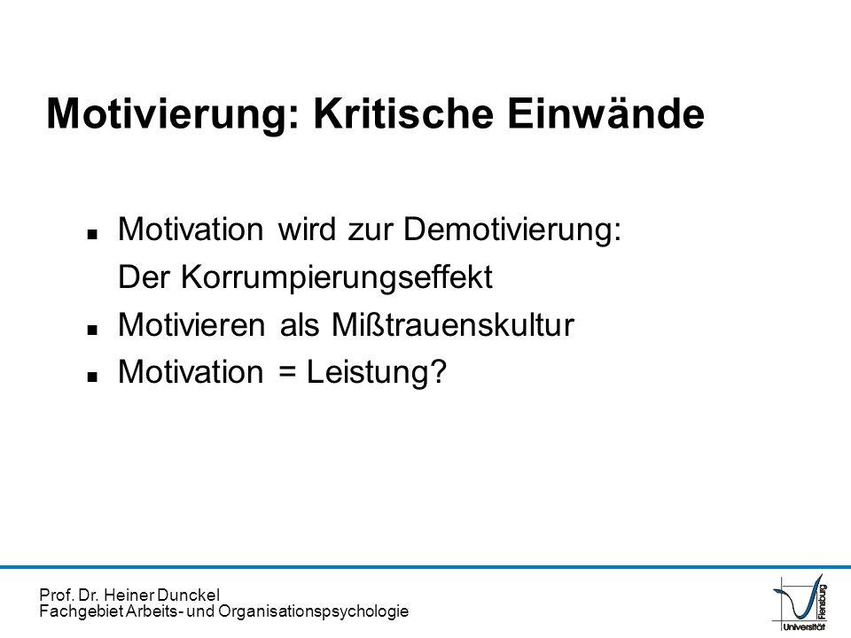 Motivierung: Kritische Einwände