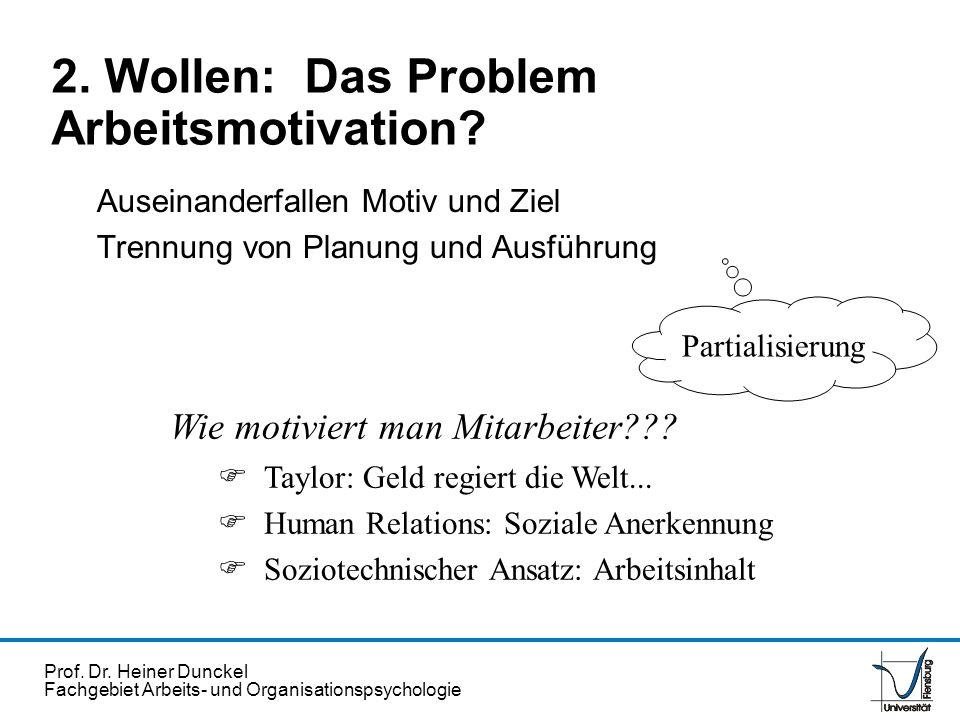 2. Wollen: Das Problem Arbeitsmotivation