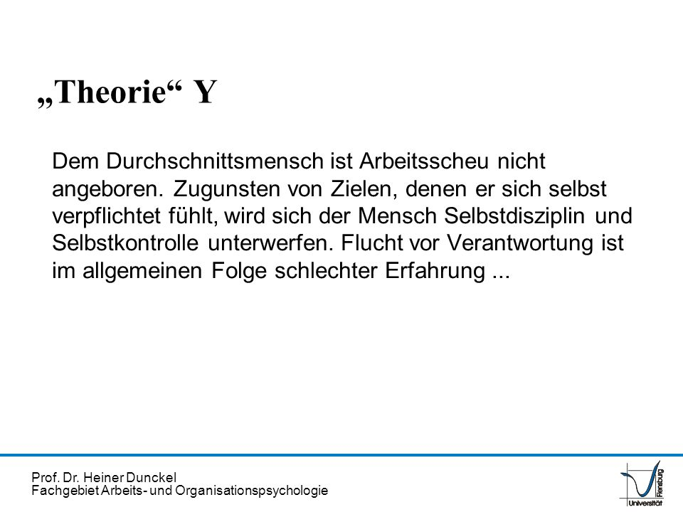 """""""Theorie Y"""