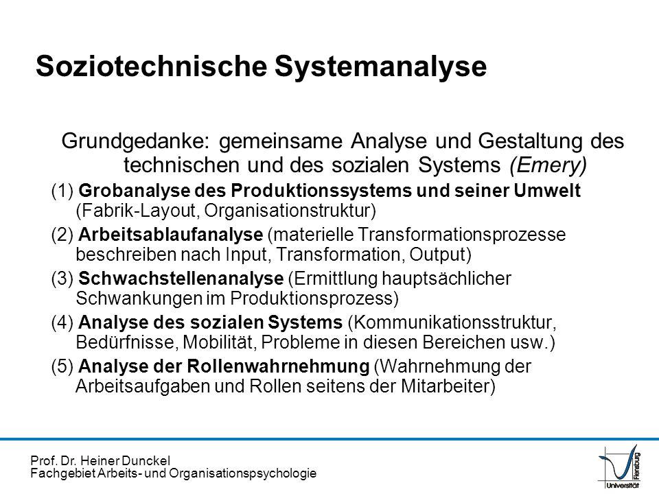 Soziotechnische Systemanalyse