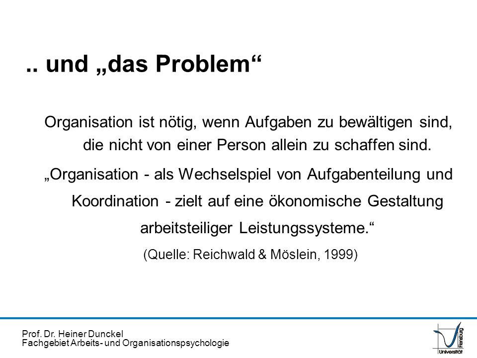 (Quelle: Reichwald & Möslein, 1999)