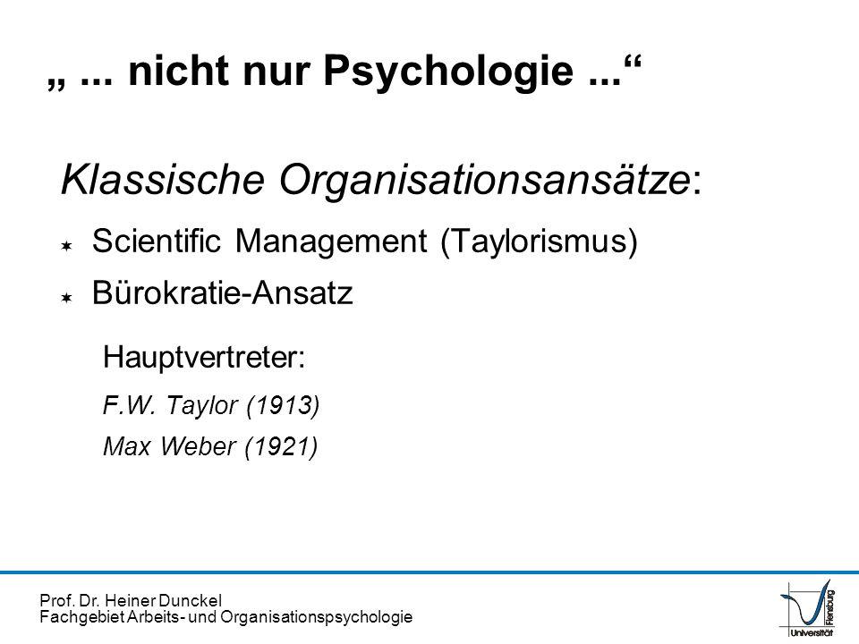 """"""" ... nicht nur Psychologie ..."""