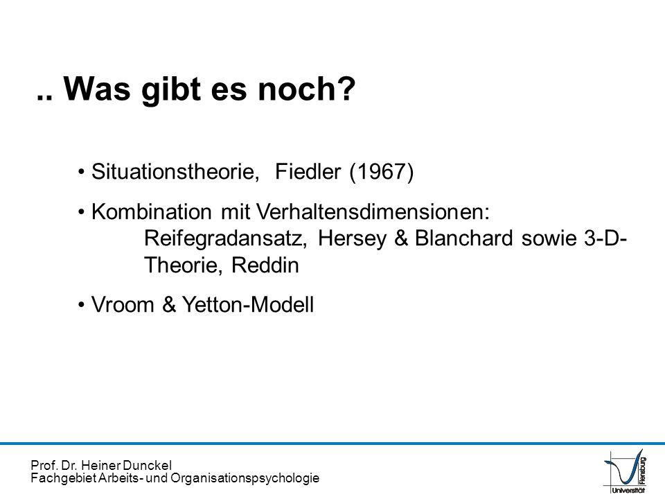 .. Was gibt es noch Situationstheorie, Fiedler (1967)
