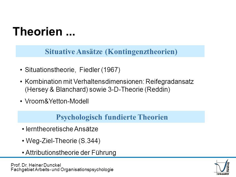 Theorien ... Situative Ansätze (Kontingenztheorien)