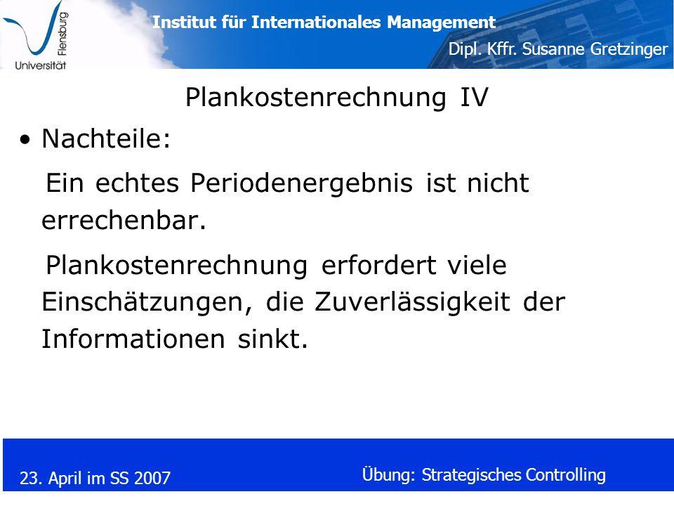 Plankostenrechnung IV