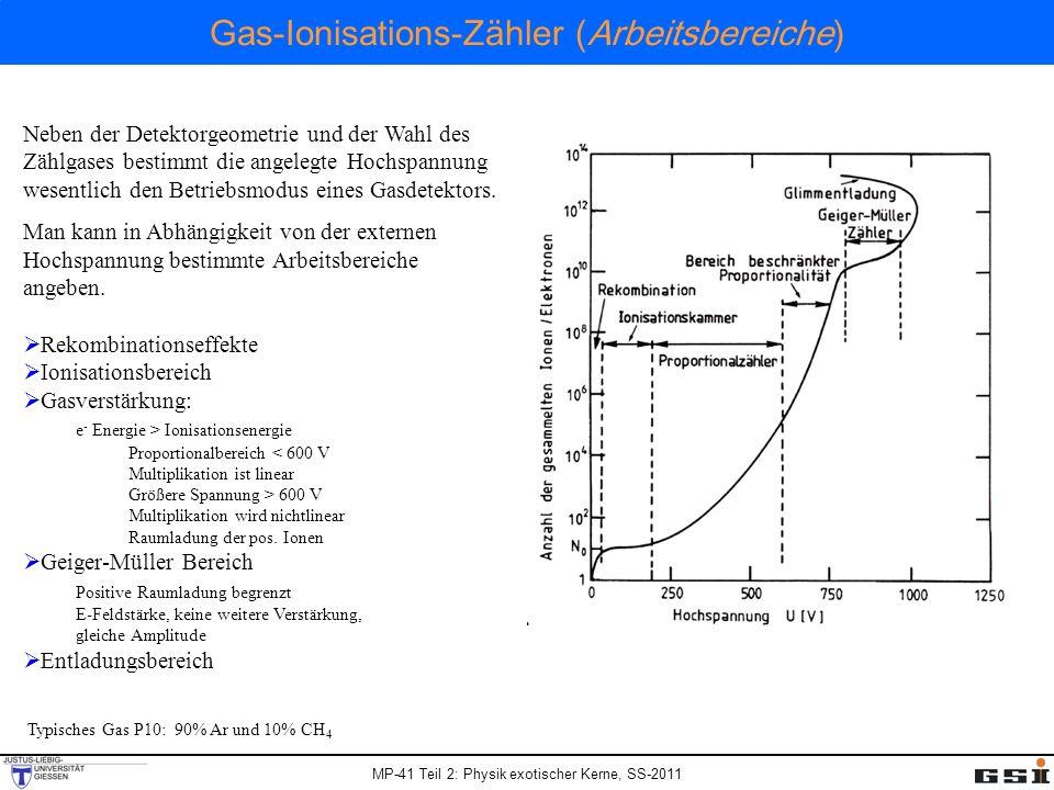 Gas-Ionisations-Zähler (Arbeitsbereiche)