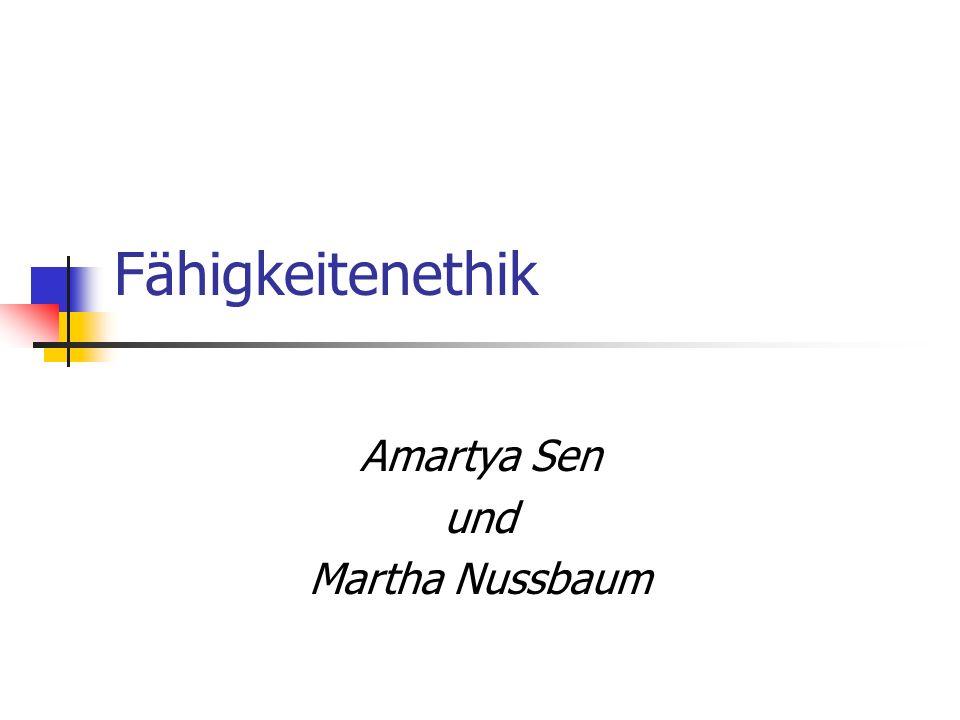 Amartya Sen und Martha Nussbaum