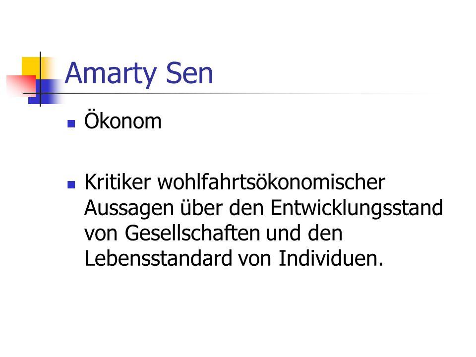 Amarty Sen Ökonom.