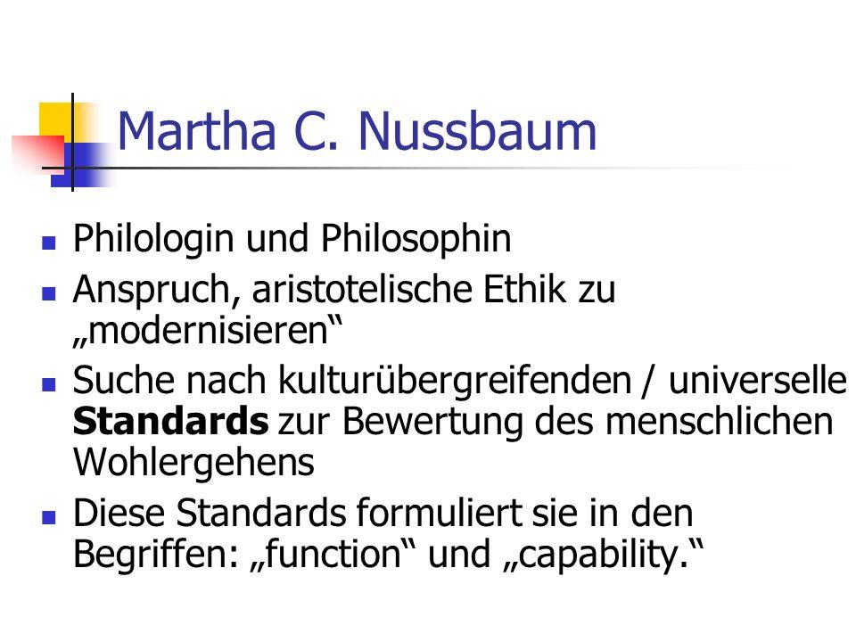 Martha C. Nussbaum Philologin und Philosophin