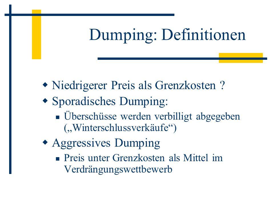 Dumping: Definitionen